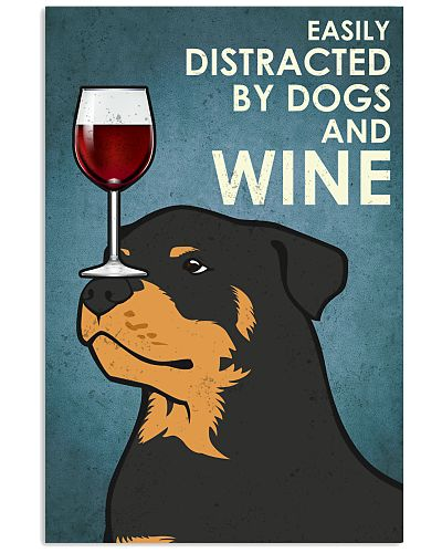 Dog Rottweiler And Wine