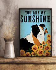 Dog Border Collie You Are My Sunshine 16x24 Poster lifestyle-poster-3