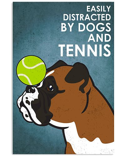 Dog Boxer And Tennis