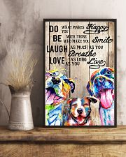 Dog Laugh Love Live 16x24 Poster lifestyle-poster-3