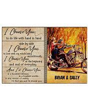 Biker I Choose You 36x24 Poster front