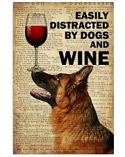 Dog K9 And Wine 16x24 Poster front
