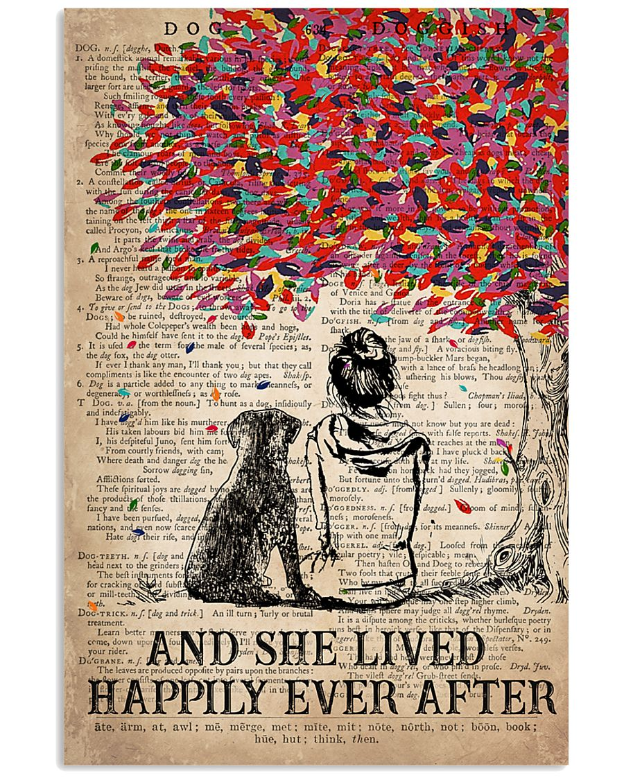 Dog Labrador Happily ever After 16x24 Poster