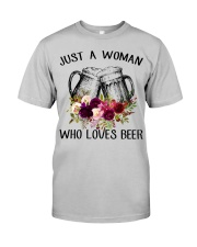 Beer Just A Woman - Hoodie And T-shirt Classic T-Shirt thumbnail