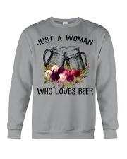 Beer Just A Woman - Hoodie And T-shirt Crewneck Sweatshirt thumbnail