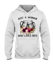 Beer Just A Woman - Hoodie And T-shirt Hooded Sweatshirt front