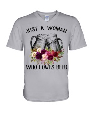 Beer Just A Woman - Hoodie And T-shirt V-Neck T-Shirt thumbnail