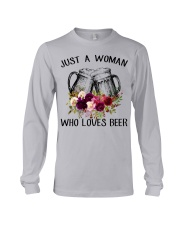 Beer Just A Woman - Hoodie And T-shirt Long Sleeve Tee thumbnail