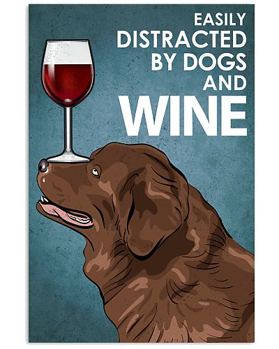 Dog Newfoundland And Wine