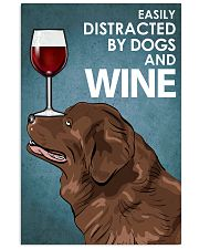 Dog Newfoundland And Wine 16x24 Poster front