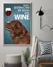 Dog Newfoundland And Wine 16x24 Poster lifestyle-poster-1