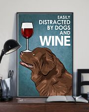 Dog Newfoundland And Wine 16x24 Poster lifestyle-poster-2