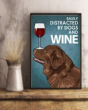 Dog Newfoundland And Wine 16x24 Poster lifestyle-poster-3