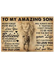 Family To My Amazing Son 24x16 Poster front