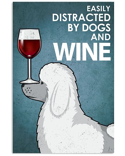 Dog poodle And Wine