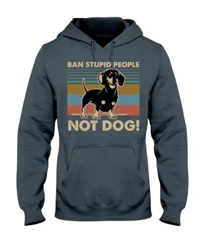 Dog Dachshund Ban Stupid People