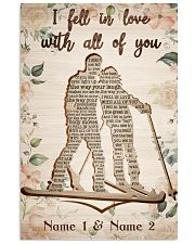 Skiing I Fell In Love With All Of You 24x36 Poster front