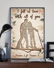 Skiing I Fell In Love With All Of You 24x36 Poster lifestyle-poster-2