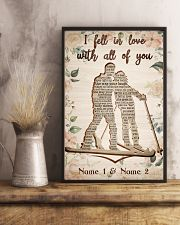 Skiing I Fell In Love With All Of You 24x36 Poster lifestyle-poster-3