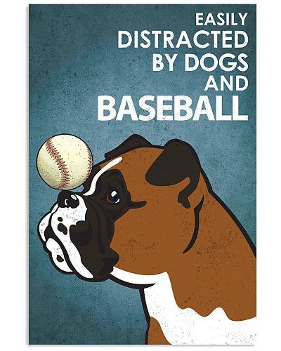 Dog Boxer And Baseball