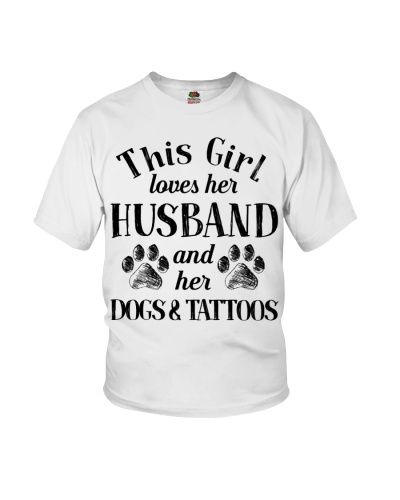 This Girl Loves Her husband And Her Dogs Tattoos