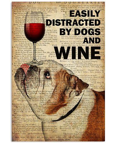 Dog Bulldog And Wine