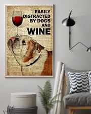 Dog Bulldog And Wine 16x24 Poster lifestyle-poster-1