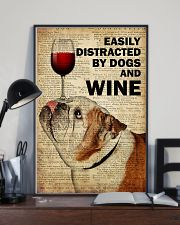 Dog Bulldog And Wine 16x24 Poster lifestyle-poster-2