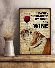 Dog Bulldog And Wine 16x24 Poster lifestyle-poster-3