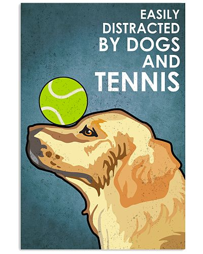 Dog Golden And Tennis