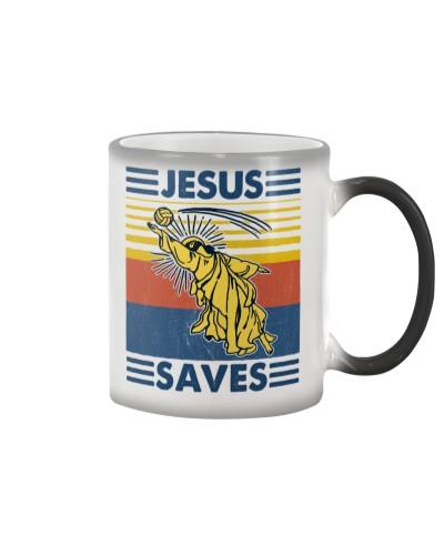 Volleyball Jesus Saves