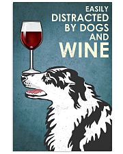 Dog Border Collie And Wine 16x24 Poster front