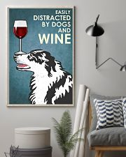 Dog Border Collie And Wine 16x24 Poster lifestyle-poster-1