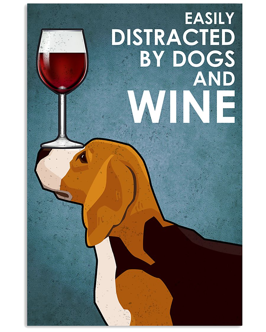 Dog Beagle And Wine 16x24 Poster