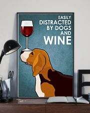 Dog Beagle And Wine 16x24 Poster lifestyle-poster-2