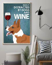 Dog Corgi And Wine 16x24 Poster lifestyle-poster-1