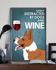 Dog Corgi And Wine 16x24 Poster lifestyle-poster-2