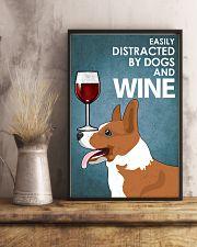 Dog Corgi And Wine 16x24 Poster lifestyle-poster-3