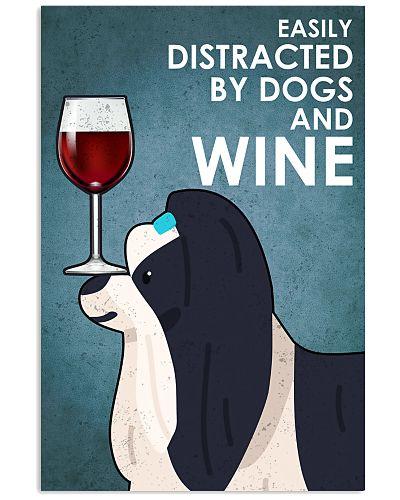 Dog Shih Tzu And Wine