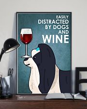 Dog Shih Tzu And Wine 16x24 Poster lifestyle-poster-2