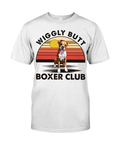 Dog Wiggly Butt Boxer Club