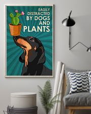 Dog Dachshund And Plants 11x17 Poster lifestyle-poster-1