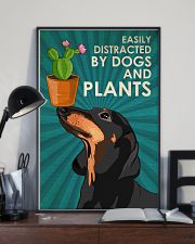 Dog Dachshund And Plants 11x17 Poster lifestyle-poster-2