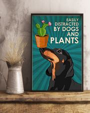 Dog Dachshund And Plants 11x17 Poster lifestyle-poster-3