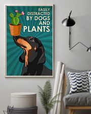 Dog Dachshund And Plants 24x36 Poster lifestyle-poster-1