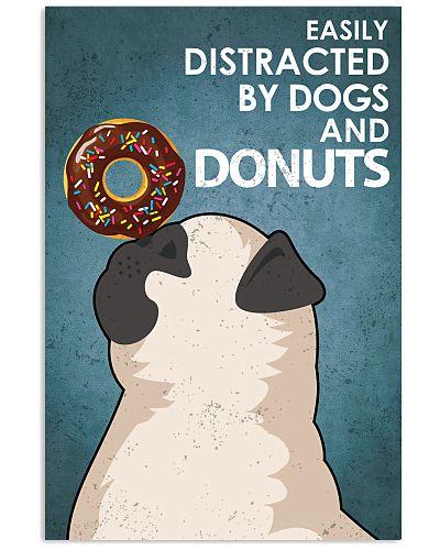 Dog Pug And Donuts