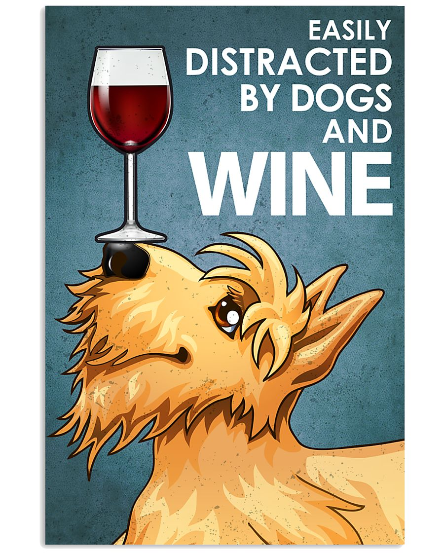 Dog Scottish Terrier And Wine 16x24 Poster
