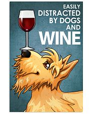 Dog Scottish Terrier And Wine 16x24 Poster front