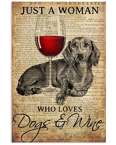 Dog Dachshund And Wine