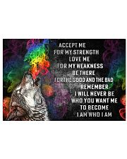 LGBT Accept Me For My Strength 36x24 Poster front